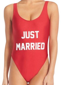 PRIVATE PARTY Just Married One Piece Low Back