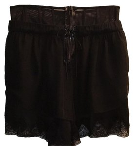 Alexander Wang Lace Trim Silk Dress Shorts black