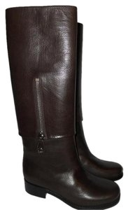 Chanel Cc Foldover Pant Zip Brown Boots