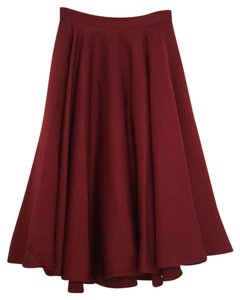 Necessary Clothing Midi Skirt S Skirt Burgundy