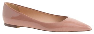 J.Crew Patent Pointed Toe Beige Flats