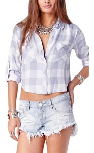Rails Flannel Plaid Crop Spring Button Down Shirt