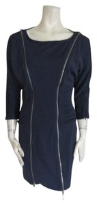 Catherine Malandrino short dress dark blue on Tradesy