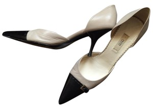 Prada Ivory and black Pumps