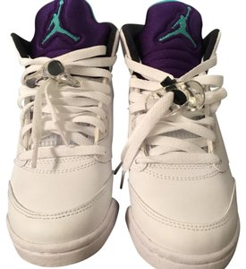 Air Jordan white and purple