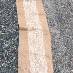 Handmade Burlap And Lace Table Runners