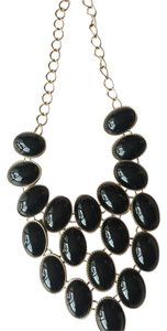 Francesca's Black Statement necklace