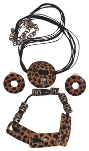 Chico's $15 for All 3: Animal Print Necklace, Earrings & Bracelet