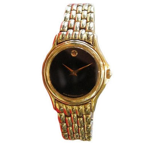 Preload https://item4.tradesy.com/images/ladies-movado-museum-series-yellow-gold-plated-black-face-watch-2069323-0-0.jpg?width=440&height=440