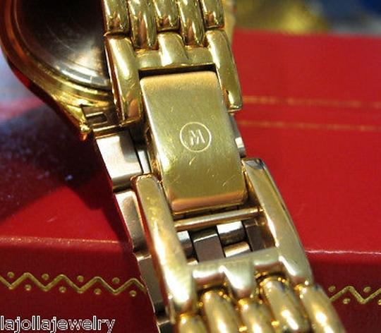 Movado Ladies Movado Museum Series Yellow Gold Plated Black Face Watch