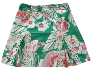 Lilly Pulitzer Skirt Green, Pink, White