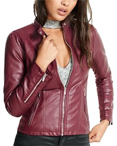 Express berry Leather Jacket