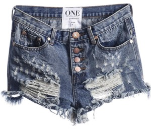 One Teaspoon Cut Off Shorts Denim