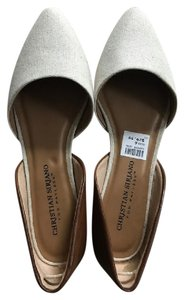 Christian Siriano Beige and Brown Sandals