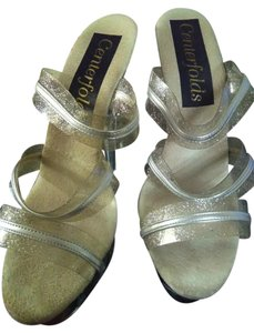 Centerfolds clear/silver Platforms