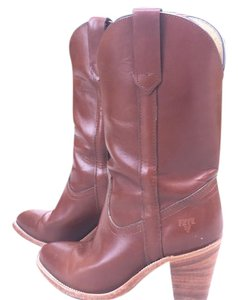 Frye Westen Pull-on Made In Usa Cognac Boots