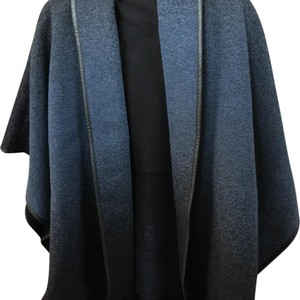 Bailey 44 Concaved Draped Open Black and Blue Jacket