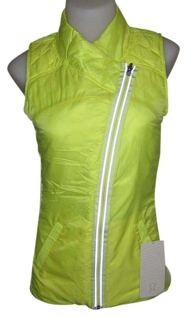 Item - Yellow and White What The Fluff Reversible Activewear Outerwear Size 6 (S)