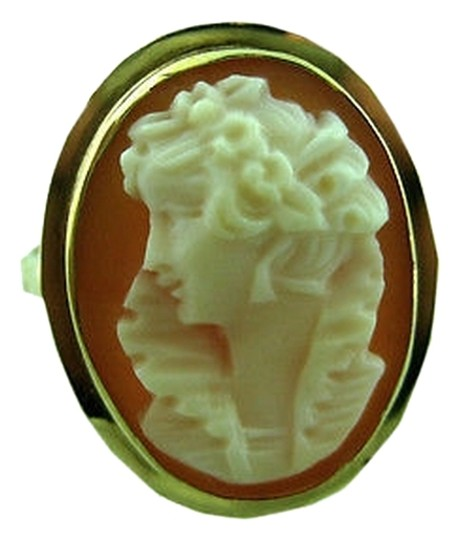 Preload https://item5.tradesy.com/images/14k-yellow-gold-ladies-antique-peach-cameo-ring-size-65-2069364-0-0.jpg?width=440&height=440