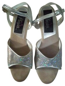 Pleaser silver and glitter Platforms