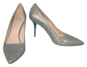 Cole Haan Classic Silver Metallic Pumps