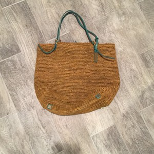 Michael Kors Tote in Tan with Blue Leather