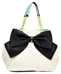 Betsey Johnson Leather Tote in White