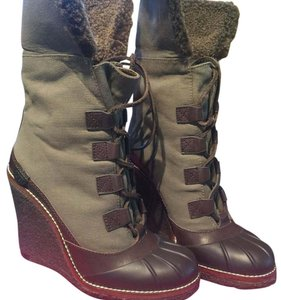 Tory Burch Olive Green/Brown Boots