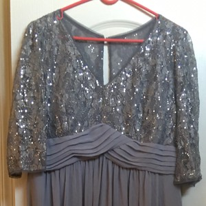 Cindy Collection Silver Mother Of The Bride Dress