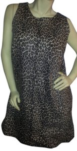 DG2 by Diane Gilman short dress Black, browns, khaki animal print on Tradesy