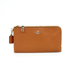 Coach Leather Wristlet in Brown