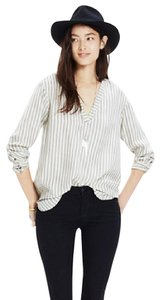 Madewell Stripe Silk Top Ivory/Stripe