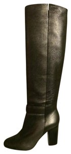 Chanel Cc Over The Knee Dark Silver Grey Grey/Dark Silver Boots