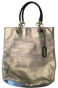 Cynthia Rowley Leather Tote In Gold