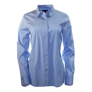 J.Crew Shirt Cotton/elastane Long Roll-up Sleeves Button Down Shirt Powder Blue