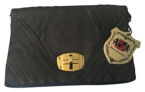 Urban Expressions Vegan Leather Black Clutch