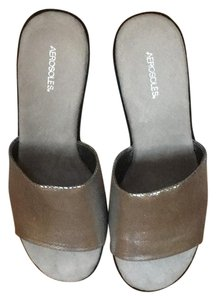 Aerosoles silver and black Sandals