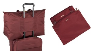 Tumi Lightweight Packable Duffel Travel Just Merlot Travel Bag