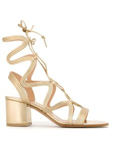 Gianvito Rossi Gold Sandals