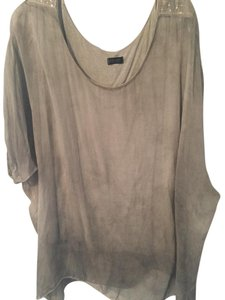 Other Sequin Sheer Out Date Night Top Taupe