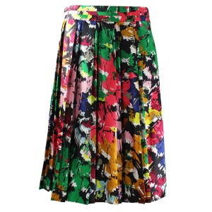 J.Crew Silk Skirt Colorful Brushstroke Print