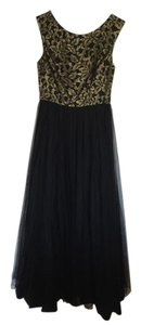 Aidan Mattox Black/gold Formal Black And Gold Tulle Dress Dress