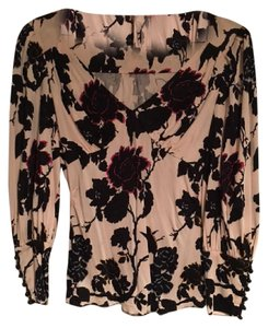 Diane von Furstenberg Floral V-neck Top Multi-Color