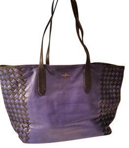 Cole Haan Tote in Blue with black weaving