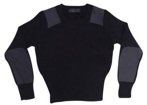 Rag & Bone Honeycomb Crewneck Patches Blouson Sweater