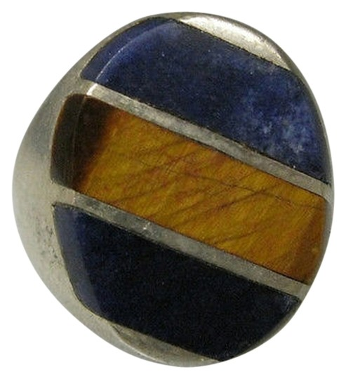 Preload https://item2.tradesy.com/images/925-sterling-silver-ladies-tigers-eye-lapis-lazuli-stone-ring-size-85-2069456-0-0.jpg?width=440&height=440