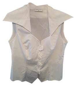 Anne Fontaine Vintage Made In France Us Size 2 Top White