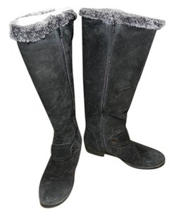 Alfani Suede Leather Knee High Black Boots