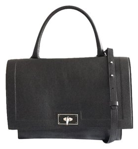 Givenchy Shoulder Crossbody Shark Tooth Satchel in Black