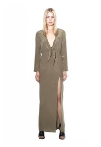 Olive Maxi Dress by Stone Cold Fox Gown Rehersal Silk Maxi